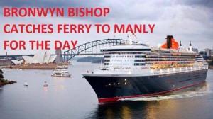 Bronwyn catches ferry